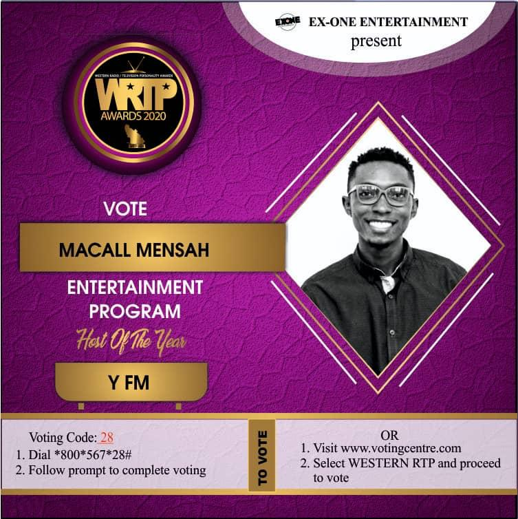 Macall Mensah Earns Nomination for WRTP Entertainment Program Host of the Year