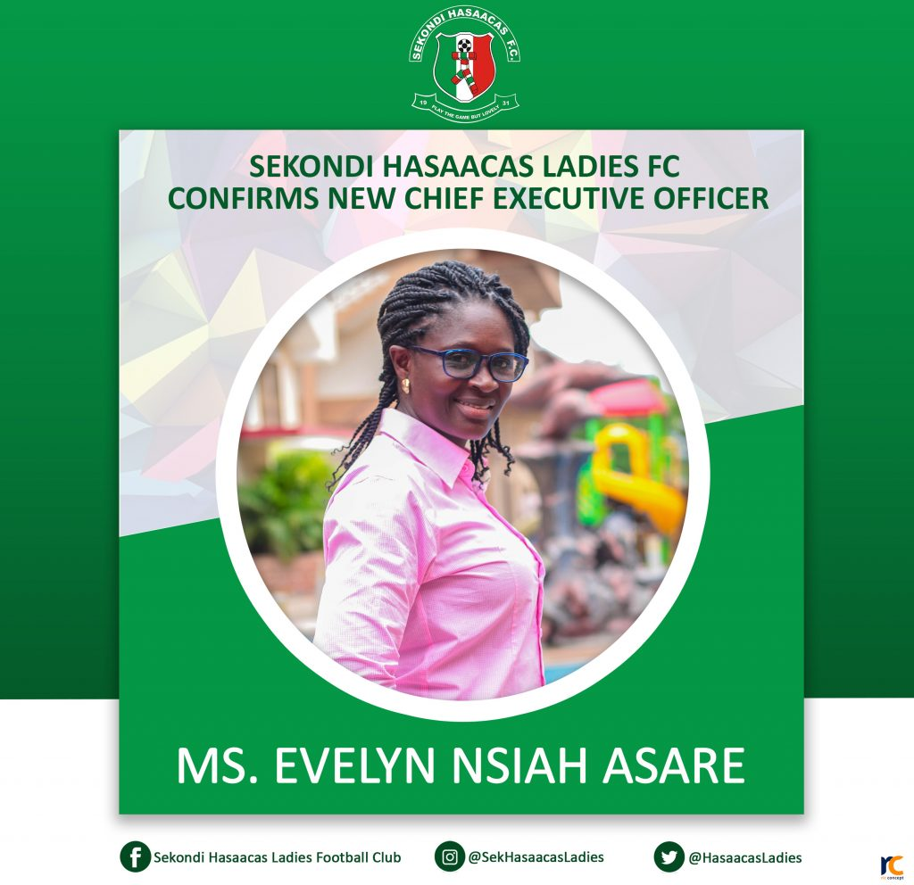Ms. Evelyn Nsiah Asare, CEO Hasaacas Ladies